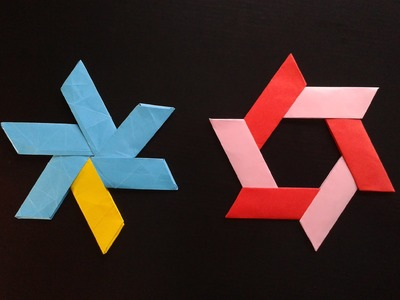 How to Make a Transforming origami  Ninja Star