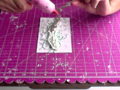 Irina Gerschuk - step-by-step tutorial - flourish card