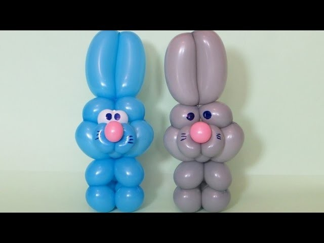 Кролик (заяц) из шаров. Rabbit (Easter bunny) of balloons, twisting