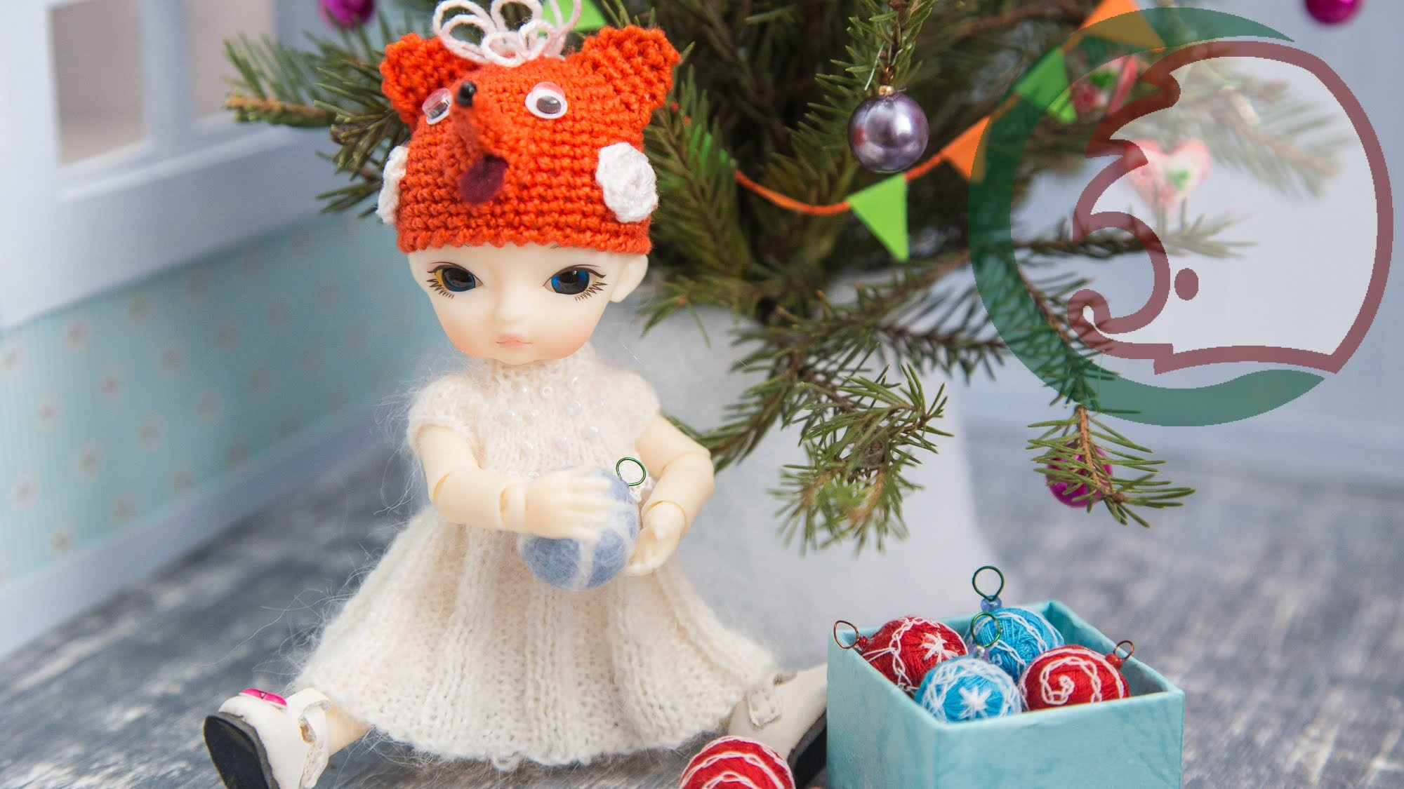 Как сделать ёлочные шары. How to make Christmas Balls for your doll