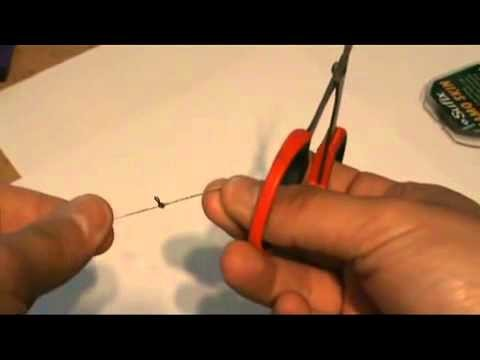 Рыбалка Carp Fishing Tutorial How to tie a knotless knot hair rig Рыбалке