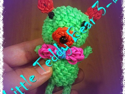 Маленький мишка.Little Teddy Bear 3-D.RainbowLoomByKroha