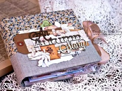 Blue Fern Studios scrapbook mini album An Autumn Story