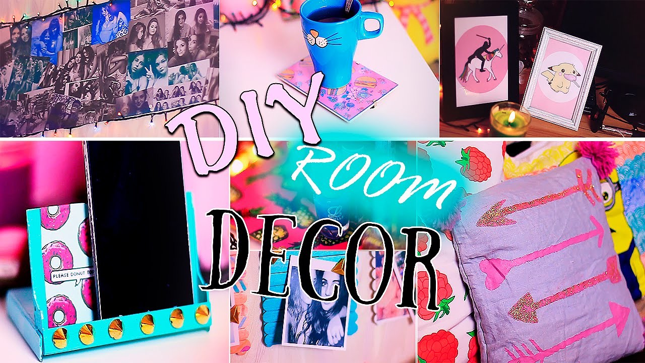 DIY: Room Decor.Tumblr Inspired.Cheap&Easy|Декор комнатыFosssaaa