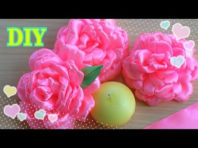 ЦВЕТЫ ИЗ АТЛАСНОЙ ЛЕНТЫ.DIY Easy Make Magic Flower,Tutorial.FLOWERS OF SATIN RIBBON