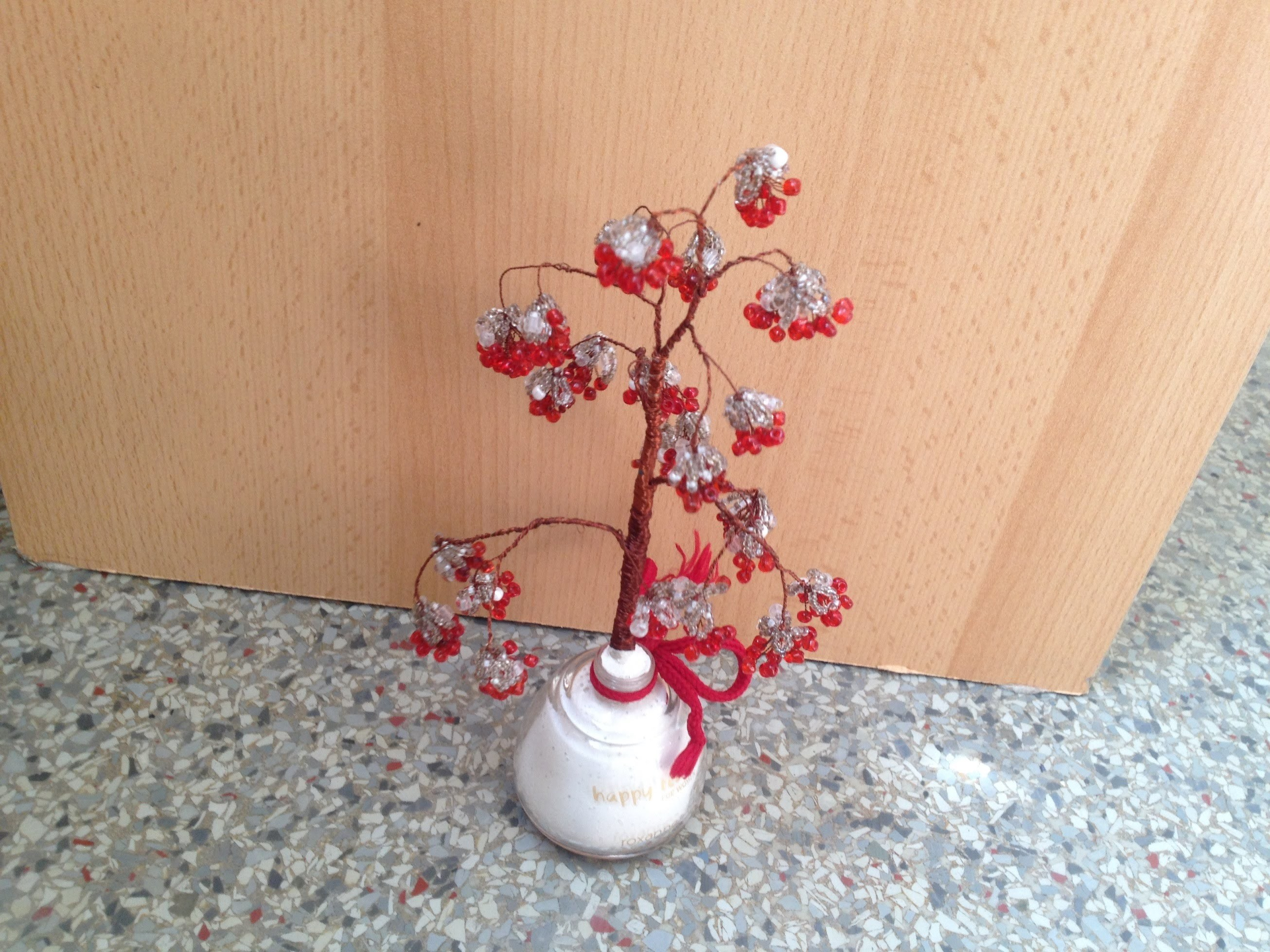 Рябина зимой. Tree in winter. DIY. Beadwork