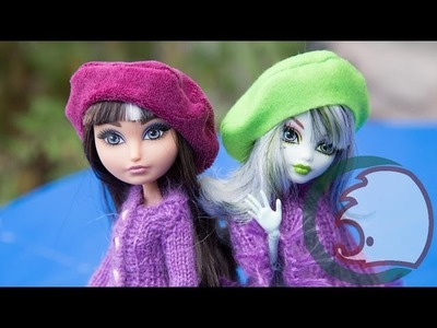 Как сделать Берет для куклы. How to make a beret for dolls.