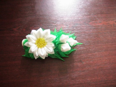 Нежная заколка-стрела.Kanzashi.DIY.Tutorial
