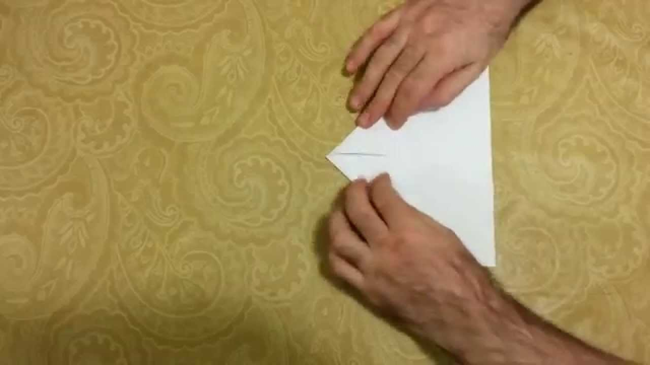 How to make a classic paper plane (jet) in one minute - HD