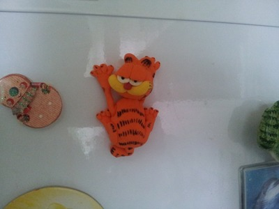 Кот Гарфилд из пластики. Cat Garfield of polymer clay