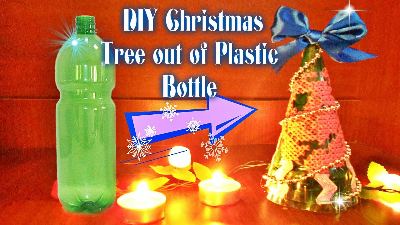 DIY Christmas Tree out of Plastic Bottle. Bottle Embroidering. Ёлка из пластиковой бутылки