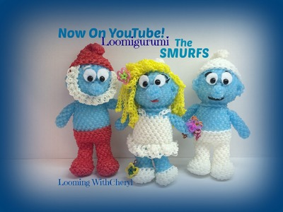 Rainbow Loom Smurfette Smurf Part 2 of 2 Loomigurumi Amigurumi Hook Only зависть Лумигуруми