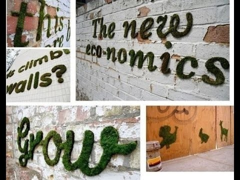 Как сделать живое графити из мха. How to make a living out of moss graffiti.