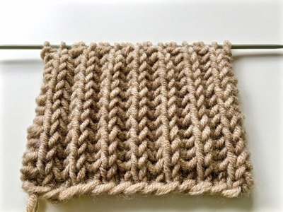 Knitting patterns  BRIOCHE  STITCH. le point de tricot côte anglaise. вязание Английская резинка