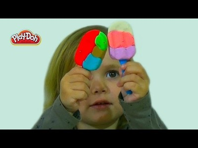 Мороженное на палочке из пластилина лепим Play-Doh ice cream on a stick.