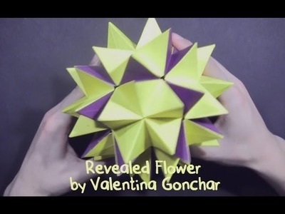 Kusudama Revealed Flower by Valentina Gonchar (part 2 of 2)  - Yakomoga Origami tutorial