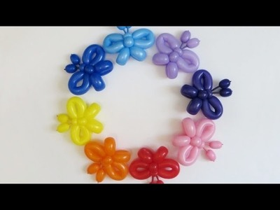 Бабочка из шаров. tiny Butterfly of balloons (160) twisting