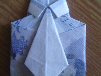 Origami рубашка с галстуком.как из купюры свернуть.How to fold bill into a shirt and tie