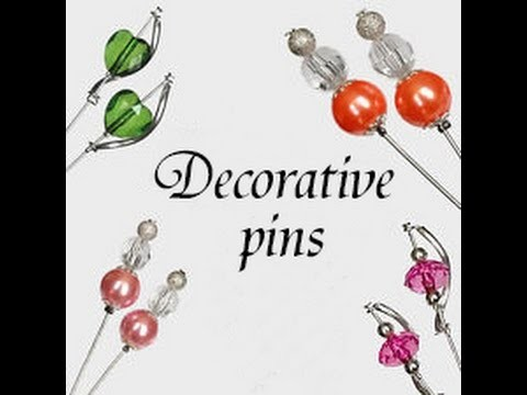 How to make Decorative pins wedding Handmade DIY dekoracyjne szpilki ślub komunia Декоративные штифт