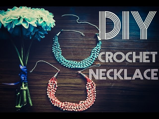 Вязаное ожерелье. DIY Crochet Necklace