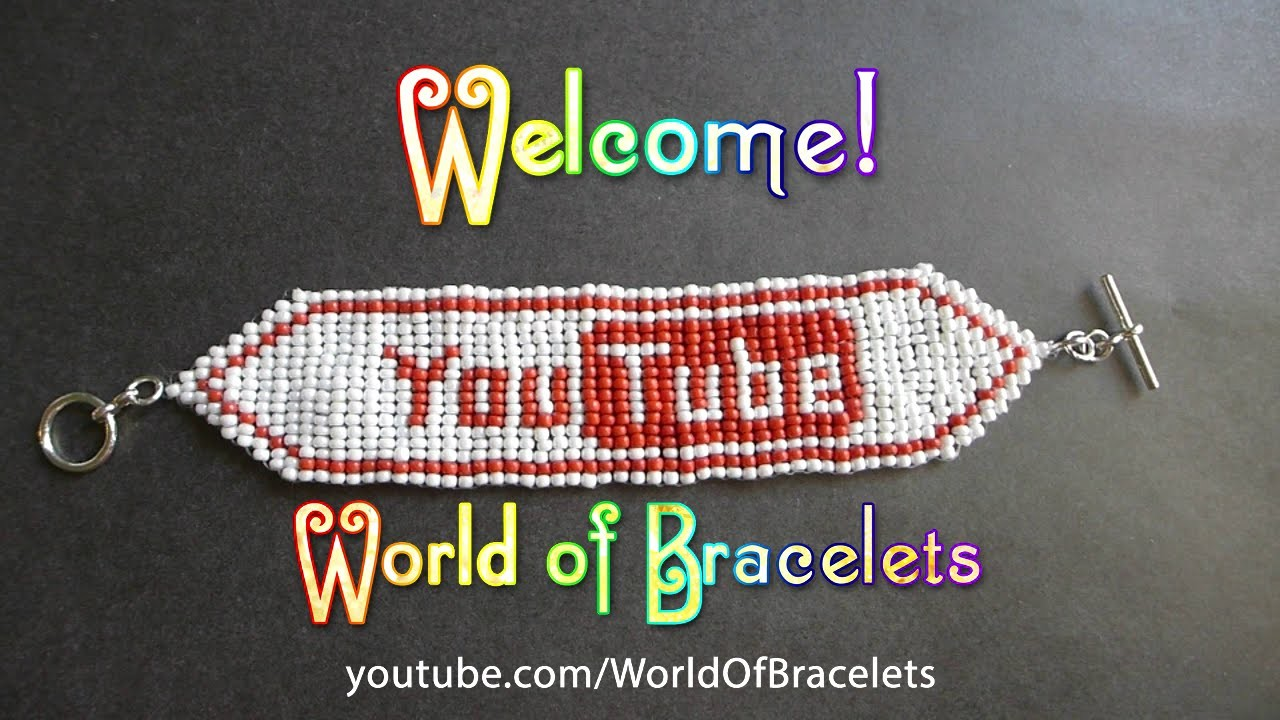 YouTube Loom Beaded Bracelet Tutorial. Браслет