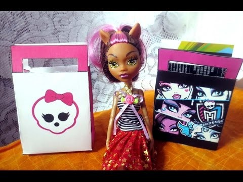 "DIY; Сумочка- коробка для подарков "" Монстер Хай "".Gift Bag in the style of ""Monster High"""