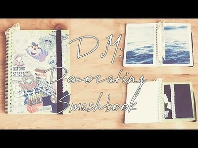 DIY Украшаем личный дневник|Decorating Smashbook\Sketchbook\Artbook Tumblr Inspired| Настя Клевер