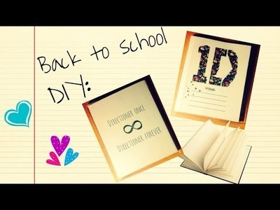 Back to school. DIY: тетрадь для школы. One direction