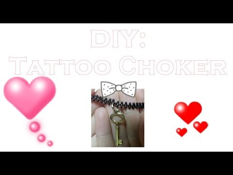 DIY: Tattoo Сhoker with beads. Bracelet with beads