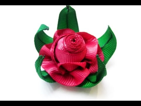 РОЗЫ Nigar Hikmet, мастер-класс. Nigar Hikmet ROSE TUTORIAL. DIY RIBBON ROSE