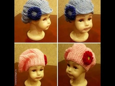 Берет и кепи крючком (Crochet: beret and cap)