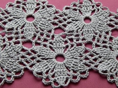 Сrochet  Flower Motif. Crochet Shawl. Tutorial. Part 1
