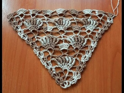 Узор для бактуса, шали (crochet pattern for a scarf and baktus)