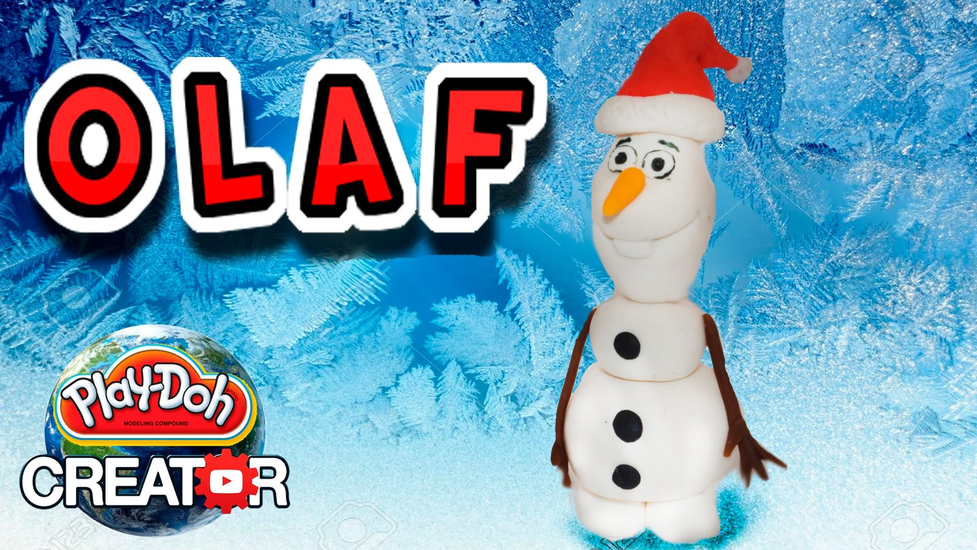 How to make Play-doh Disney Frozen Olaf - Clay Tutorial by PDC - Как сделать Олафа