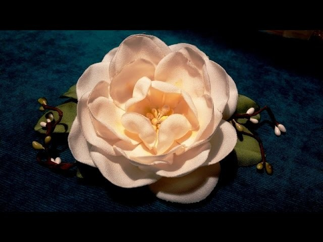 Fabric flowers how to make:camellia.tutorial.Цветы из ткани: камелия