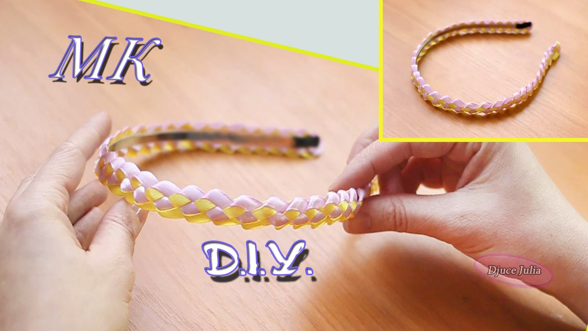 КОСИЧКА из лент для ободка.How to make ribbon headband