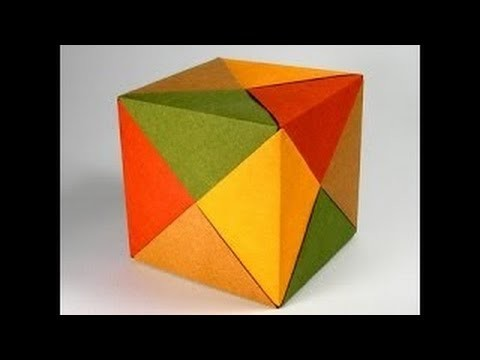 Оригами - Как сделать куб. \ How to Make a Paper Cube