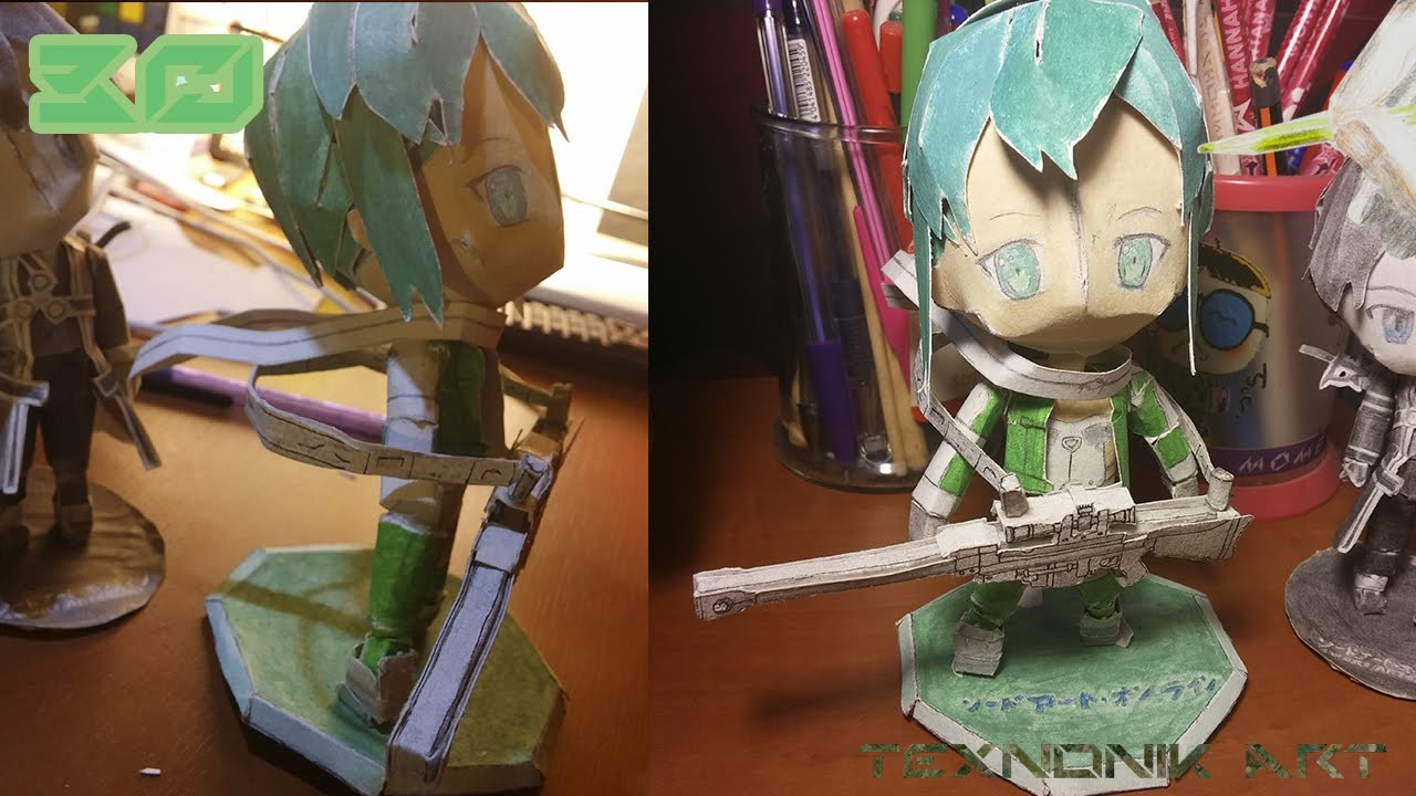 Paper crafting Sinon from Sword art online season 2