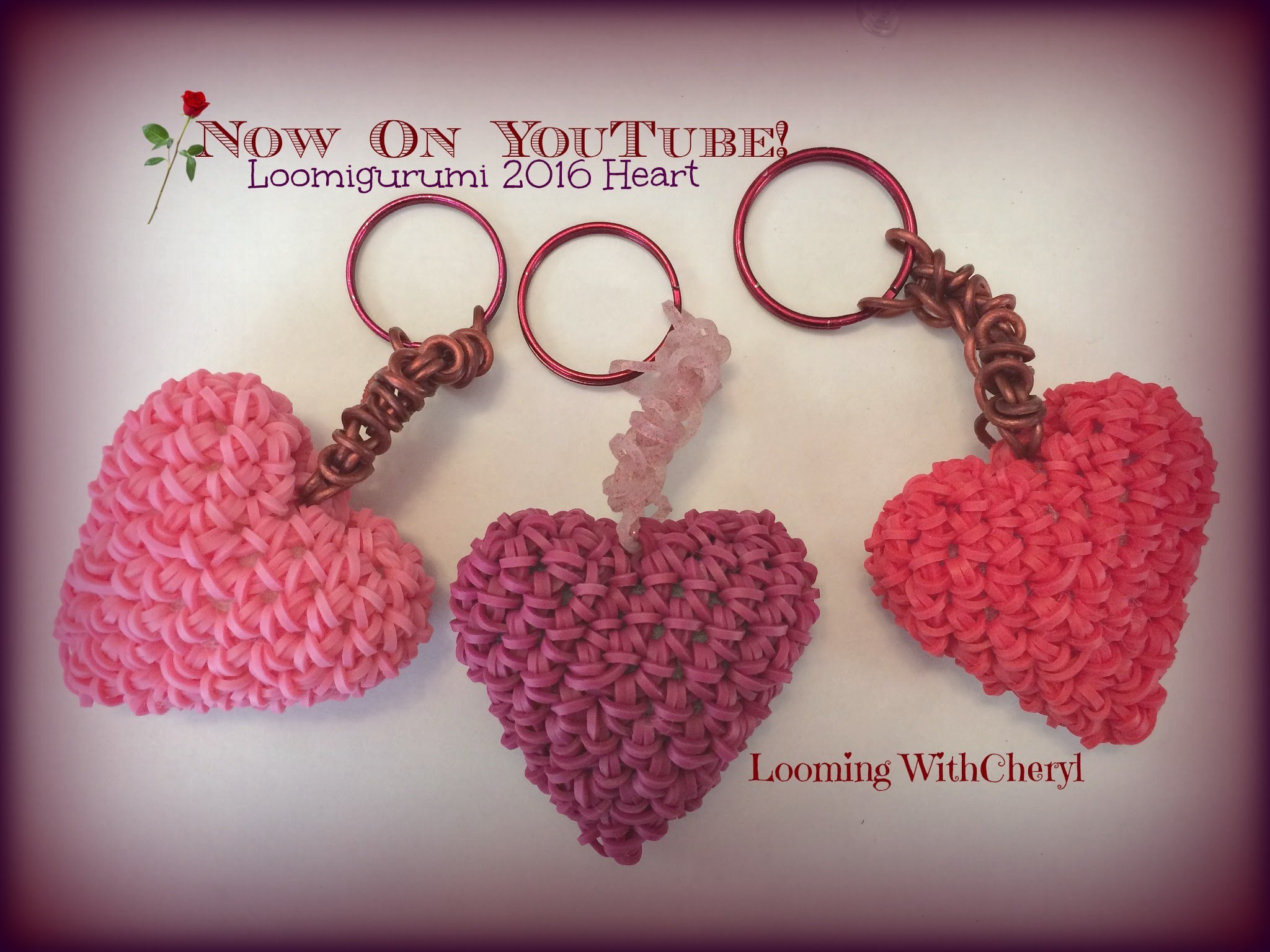 Rainbow Loom 2016 Heart Charm OR Key Chain Loomigurumi Amigurumi Hook Only Сердце Лумигуруми