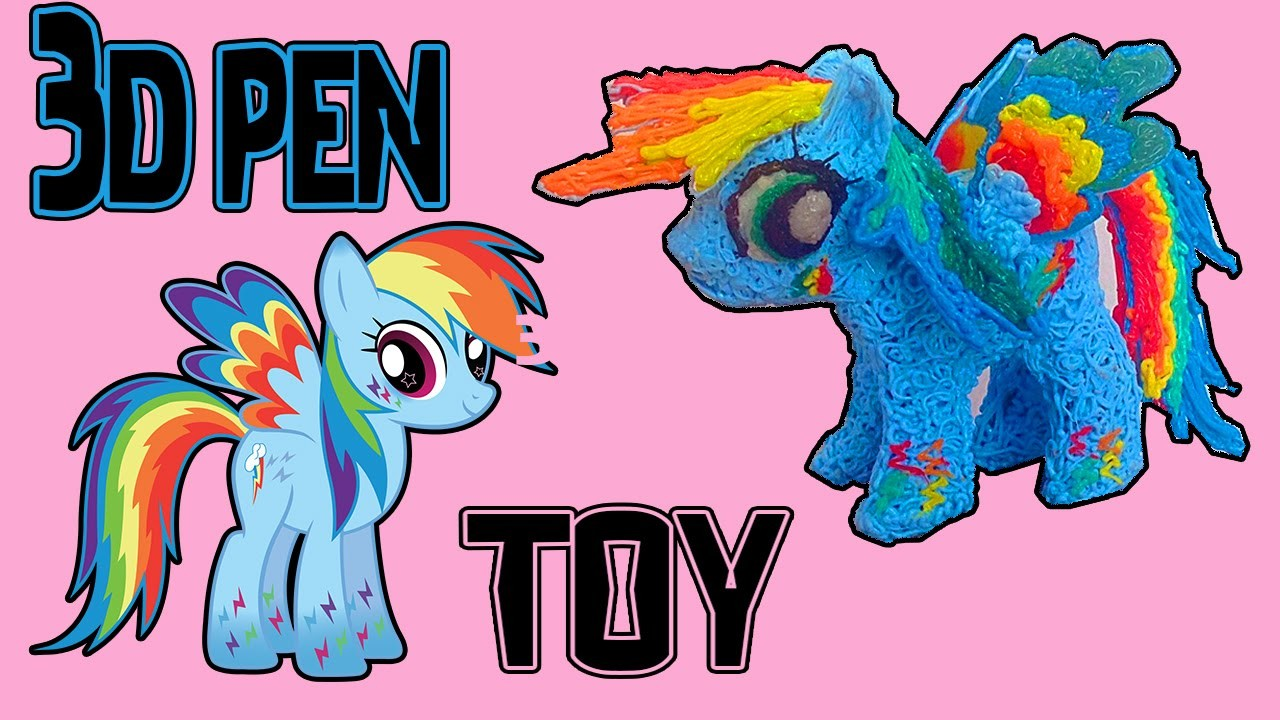 My Little Pony(MLP) - Rainbow Dash-3D Pen art