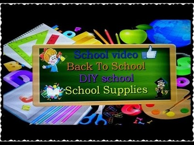 Back To School|DIY EASY |School Supplies|HelenLin1