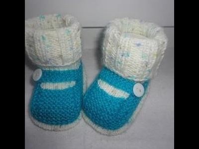 Туфельки с имитацией носочка Knitting booties