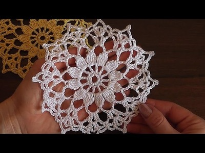Сrochet  Motif  Flower  tutorial
