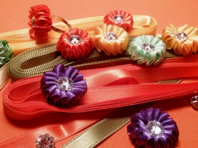 Ribbon flowers: small
