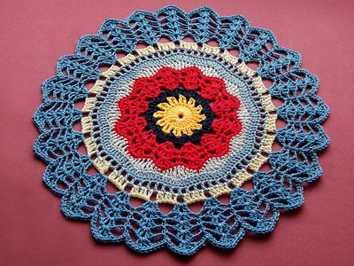 Easy Сrochet Mandala doily Tutorial Part 2