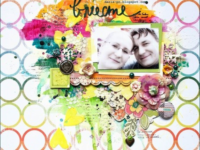 Mixed-media layout