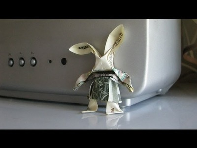 Cool Origami Hare, Rabbit - Yakomoga origami of the Dollar (money) tutorial