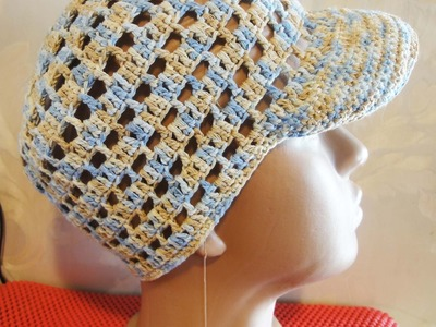 Шапочка Часть 2 Beanie with a visor for boy Crochet Part 2