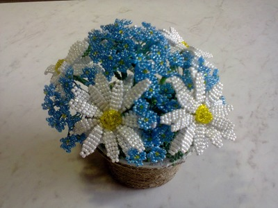 Цветы из бисера ч.1(ромашка). Beaded Flowers Part 1(chamomile)