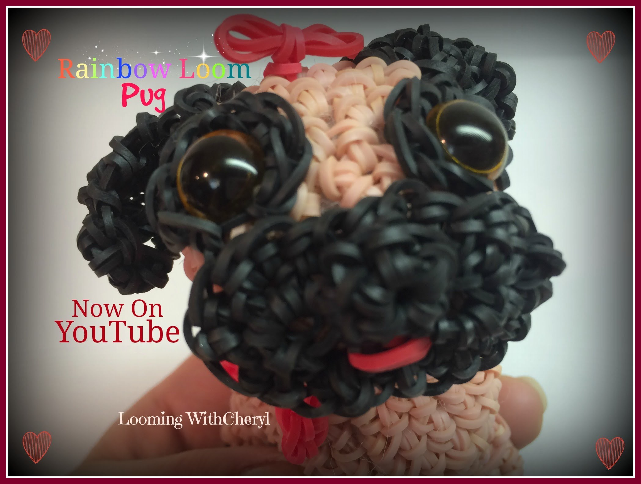 Rainbow Loom Dog Pug  Loomigurumi Amigurumi Hook Only щенок собака Лумигуруми